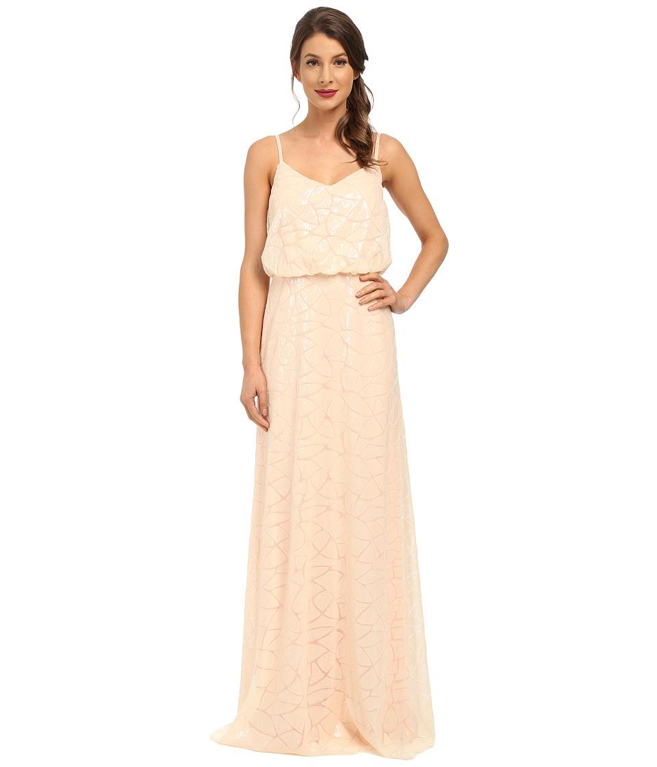 Donna Morgan Blouson Sequin Gown (Apricot) Women