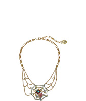 Betsey Johnson - Spider Lux Spider Web Necklace