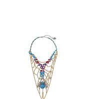 Betsey Johnson - Spider Lux Spider Web Bib Necklace