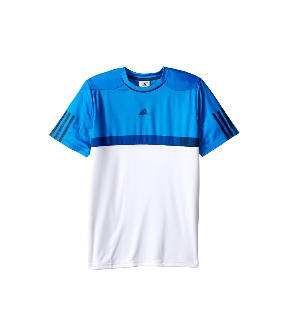 adidas Kids - BARRICADE Tee (Little Kids/Big Kids) (White/Shock Blue) Boy