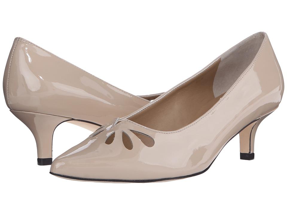 Vaneli - Tany Ecru Mag Patent Womens 1-2 inch heel Shoes $140.00 AT vintagedancer.com