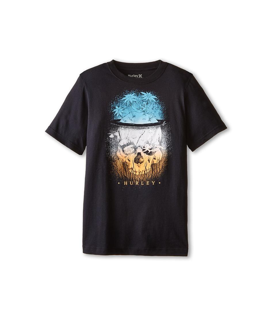 Hurley Kids Short Sleeve Lounging Tee Big Kids Black Boys T Shirt