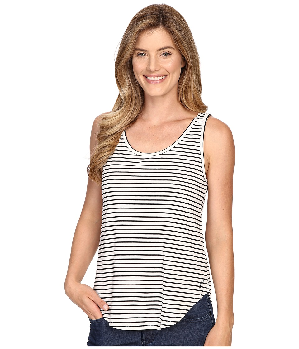 KAVU Raya Tank BW Stripe Womens Sleeveless
