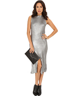 MINKPINK - Shine Bright Foiled Knit Split Hem Dress