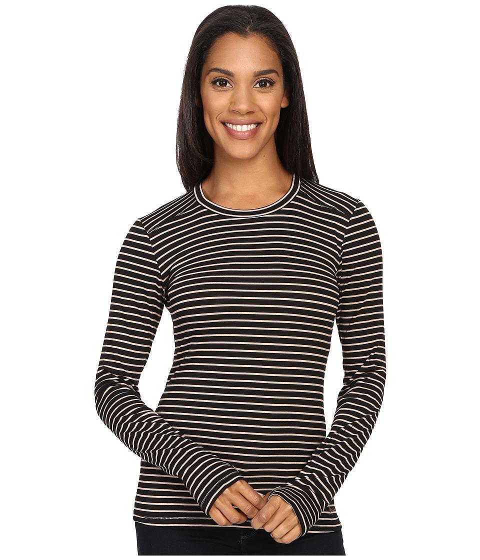 KAVU Candace Crew Black/Tan Womens Long Sleeve Pullover