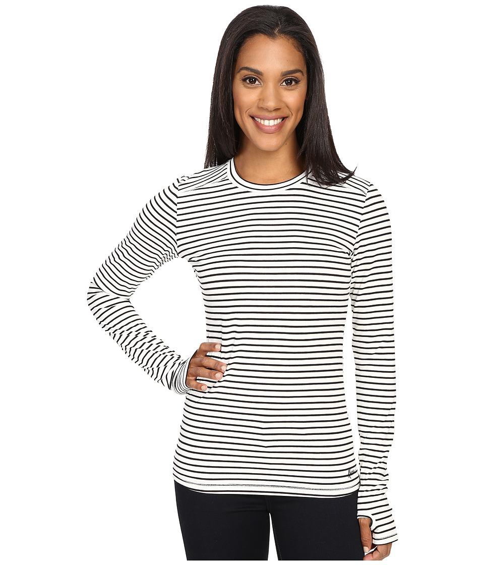 KAVU Candace Crew BW Stripe Womens Long Sleeve Pullover