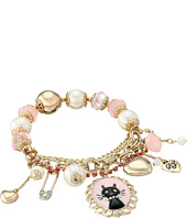 Betsey Johnson - Boxed Black Cat Charm Bracelet