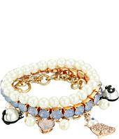 Betsey Johnson - Pearl Critters Charm Bracelet Set