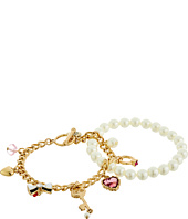 Betsey Johnson - Boxed Key Duo Bracelet Set