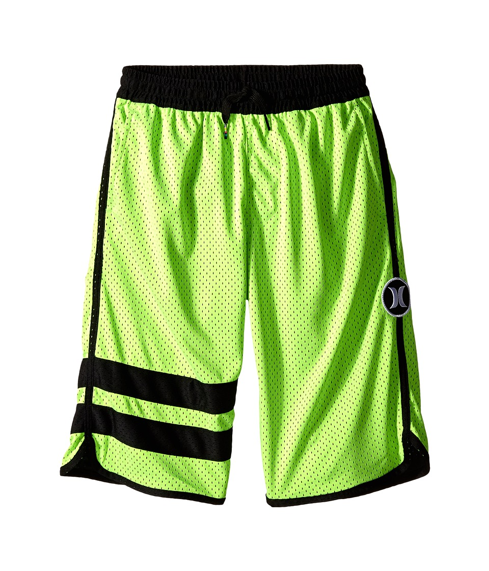 Hurley Kids Block Party Mesh Shorts Big Kids Flash Lime Boys Shorts