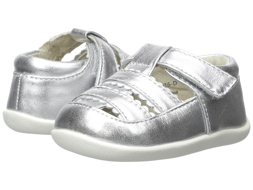 See Kai Run Kids Brook II Infant/Toddler Silver Girls Shoes