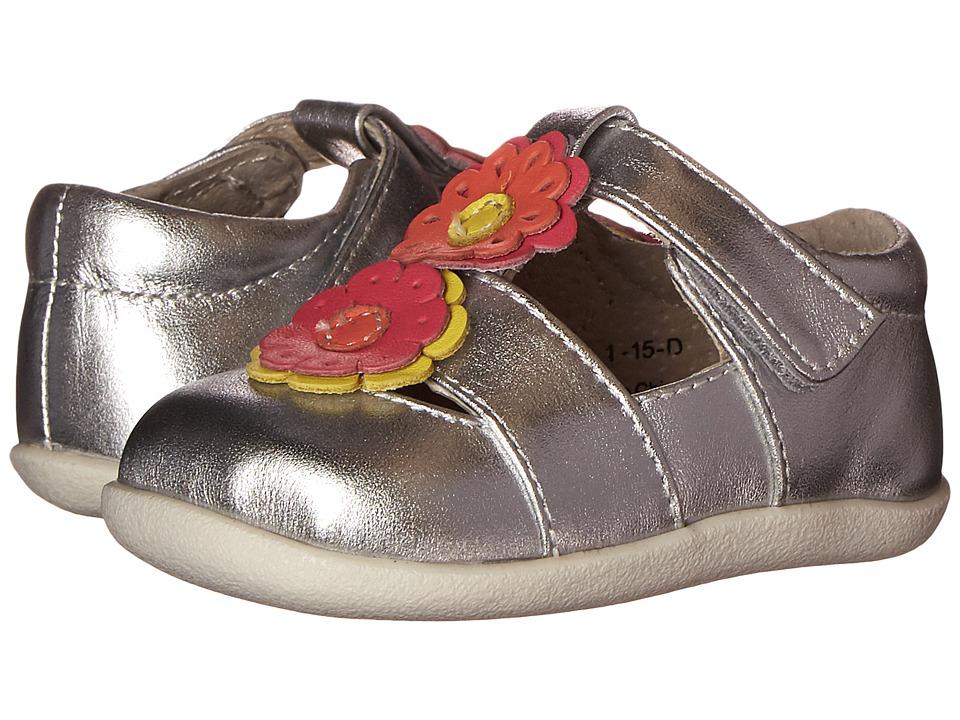 See Kai Run Kids Ada Infant/Toddler Silver Girls Shoes