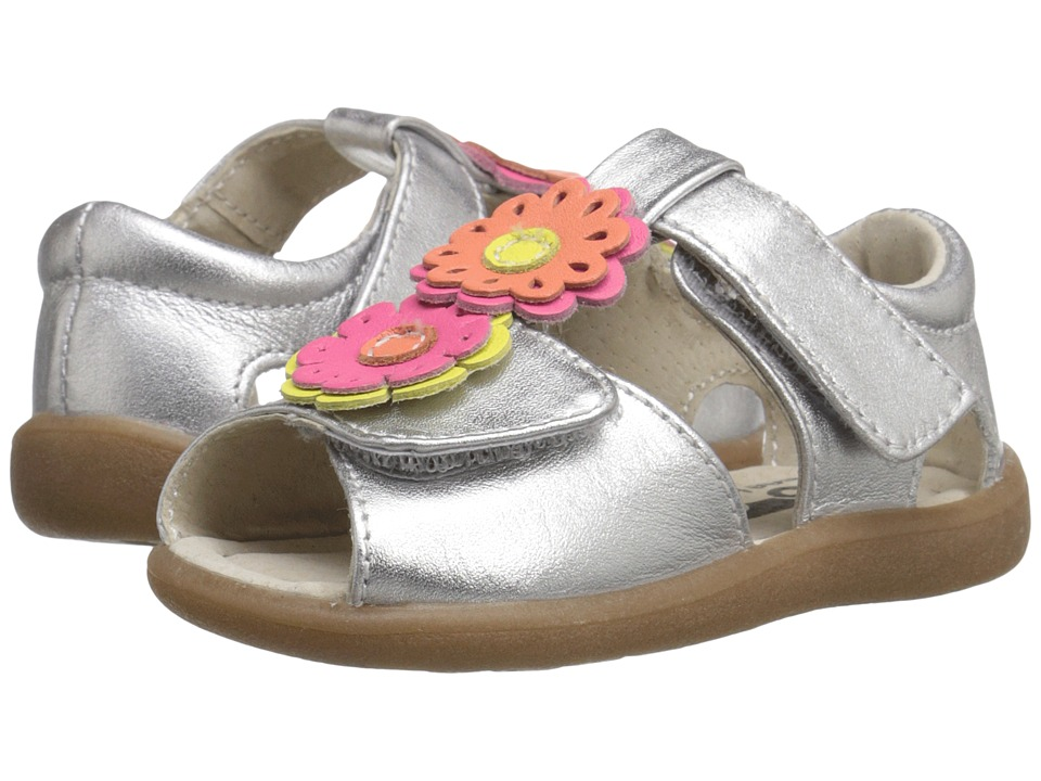 See Kai Run Kids Callie Anne Toddler Silver Girls Shoes