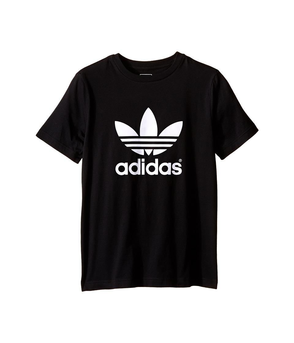 adidas Originals Kids J Trefoil Tee (Toddler/Little Kids/Big Kids) (Black/White) Boy