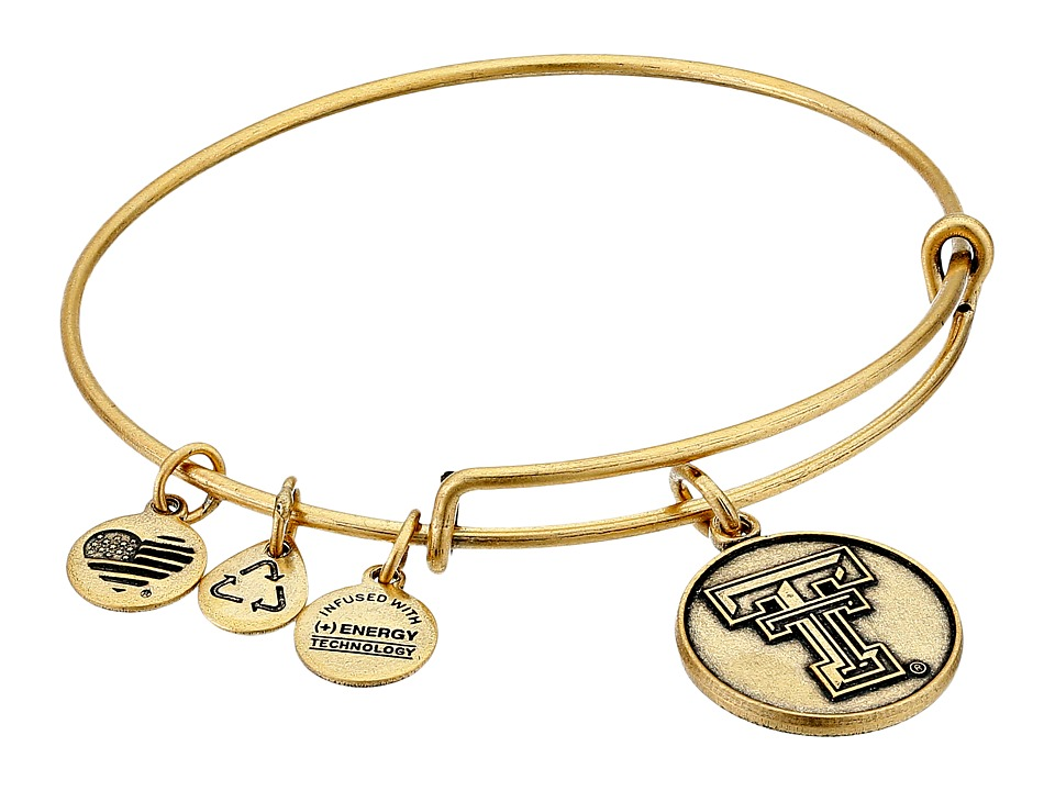 Alex and Ani - Texas Tech University Logo Expandable Bangle (Gold) Bracelet