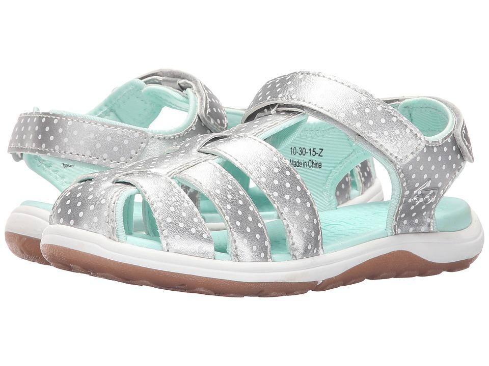 See Kai Run Kids Hartford Toddler/Little Kid Silver Girls Shoes
