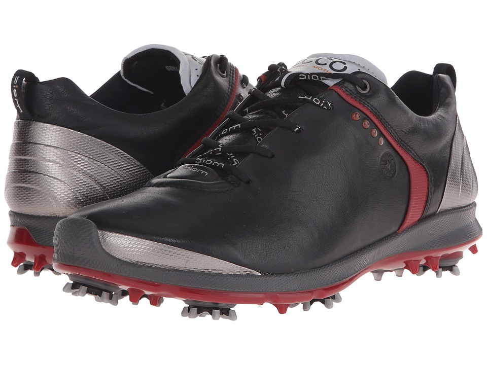 ECCO Golf BIOM G 2 GTX Black/Brick Mens Golf Shoes