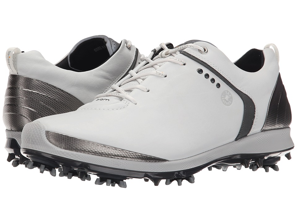 ECCO Golf BIOM G 2 GTX White/Dark Shadow Mens Golf Shoes