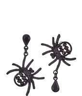Betsey Johnson - Pitch Black Spider Non-Matching Earrings