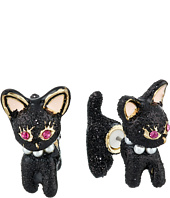 Betsey Johnson - Dark Shadows Cat Front Back Earrings