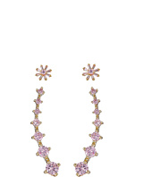 Betsey Johnson - CZ Duos Flower Stud Earrings