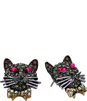Betsey Johnson - Dark Shadows Cat Stud Earrings