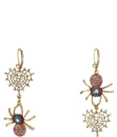 Betsey Johnson - Spider Lux Spider Non-Matching Earrings