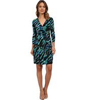 Calvin Klein - Printed Long Sleeve Wrap Dress