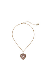 Betsey Johnson - Boxed Heart Pendant Necklace