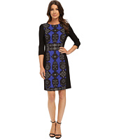 Adrianna Papell - Jewel Printed Pointe Dress