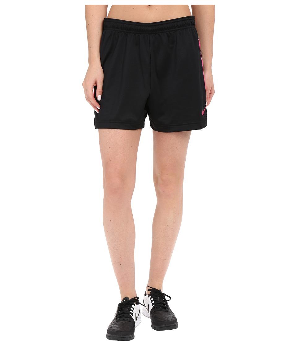 Nike Dri-FIT Academy Knit Shorts (Black/Vivid Pink/Vivid Pink) Women