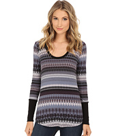 Splendid - Snowbird Fair Isle Scoop Neck
