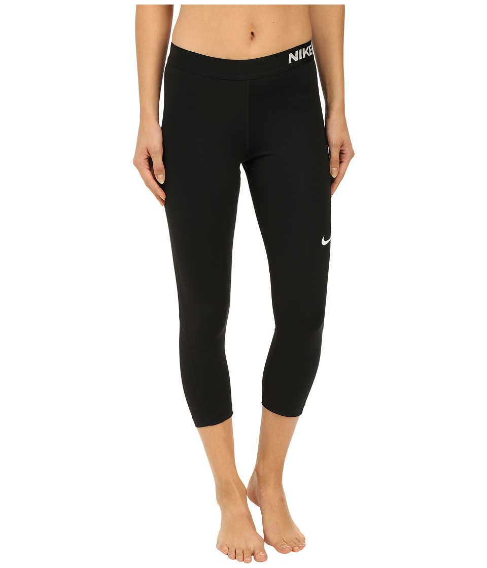 Nike Pro Cool Capris (Black/White) Women