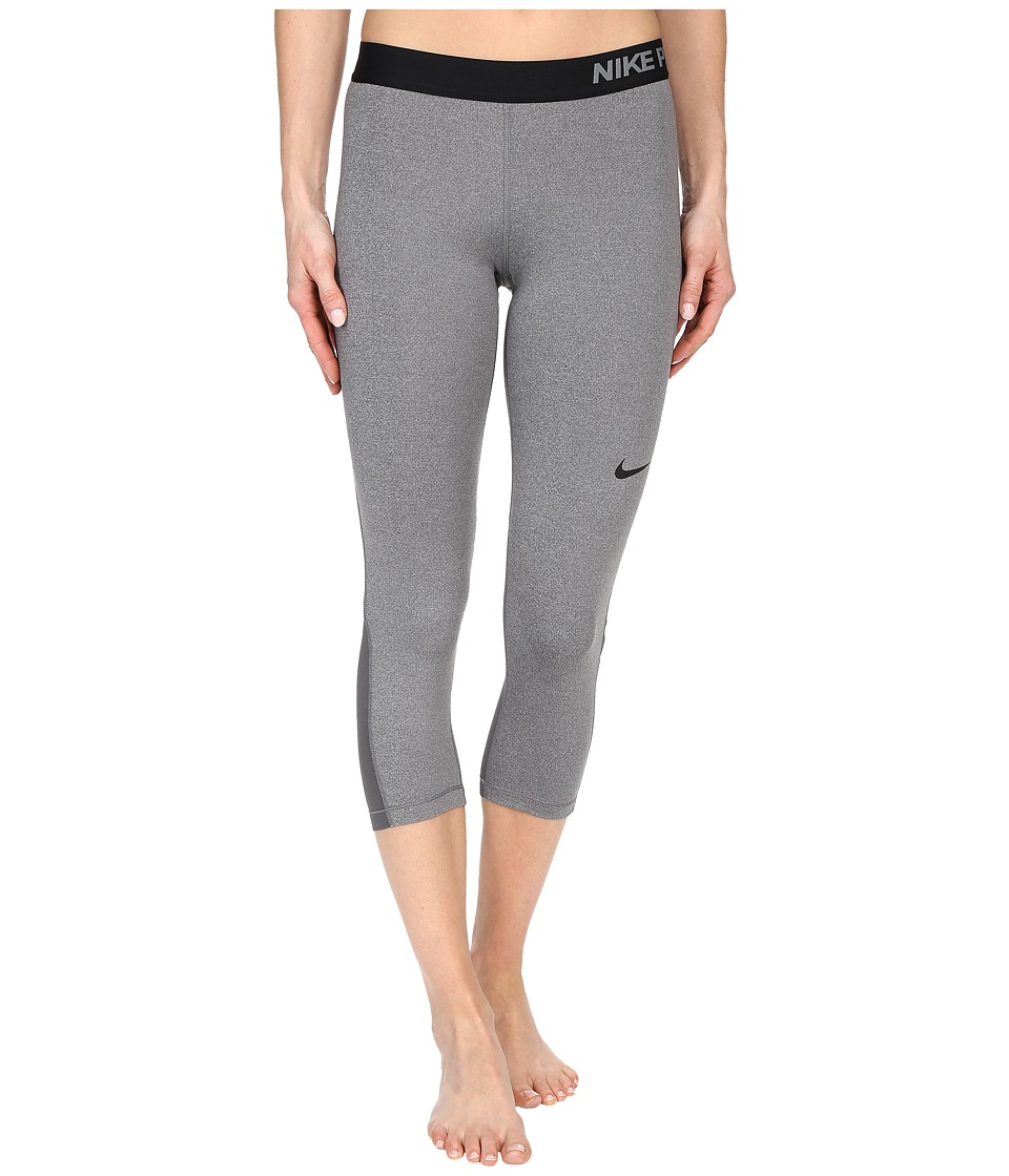 Nike Pro Cool Capris (Dark Grey/Heather/Black) Women
