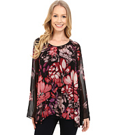 Adrianna Papell - Shirred Shoulder Babydoll Printed Top