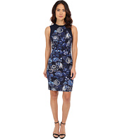Adrianna Papell - Printed Sheath with Knit Trim