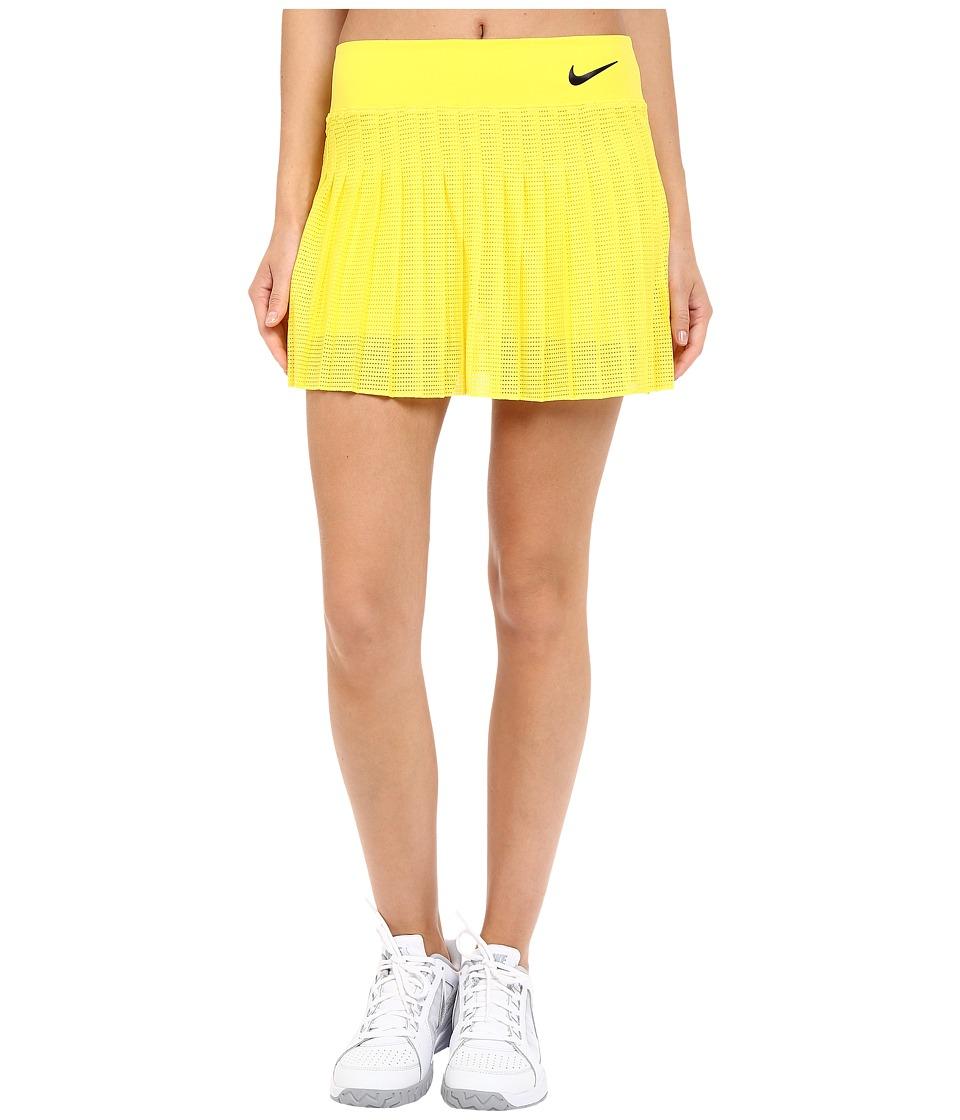 Nike Court Victory Premier Tennis Skirt Opti Yellow/Obsidian Womens Skort