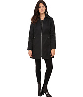 Anne Klein - Hooded Zip Front Rain Removable Hood
