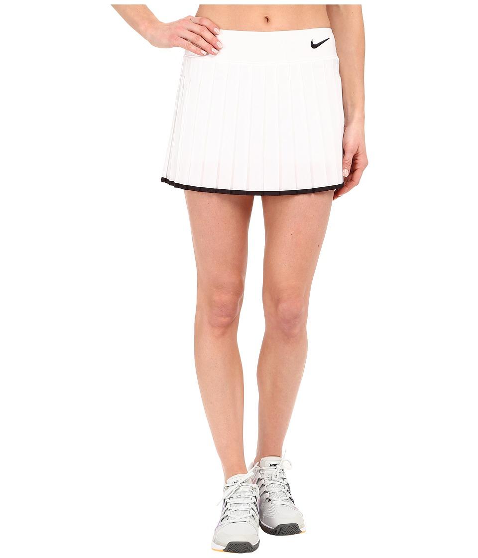 Nike Victory Skirt (White/Black/Black) Women