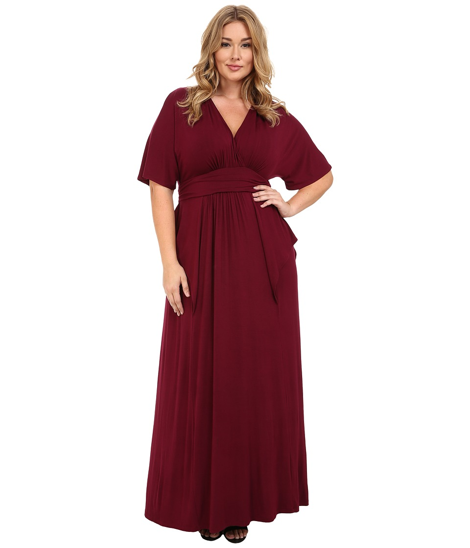 Kiyonna Indie Flair Maxi Dress (Raspberry Wine) Women