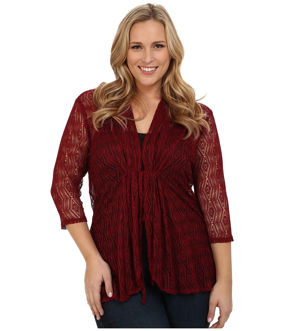Kiyonna Bohemian Crochet Bellini Bordeaux Womens Clothing