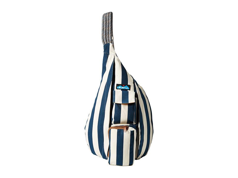 KAVU Rope Bag Nautical Stripe Backpack Bags