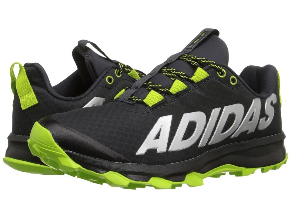 adidas Kids - Vigor 6 TR (Little Kid/Big Kid) (Black/Semi Solar Slime/Dark Grey) Boys Shoes