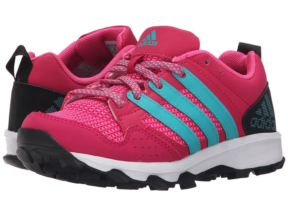 adidas Kids - Kanadia 7 TR (Little Kid/Big Kid) (Bold Pink/Shock Green/Black) Girls Shoes
