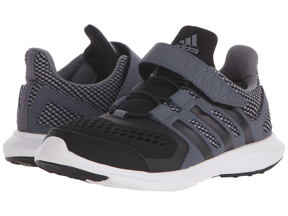 adidas Kids - Hyperfast 2.0 EL (Little Kid/Big Kid) (Grey/Black/Onix) Boys Shoes