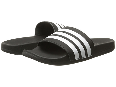 adidas Kids Adilette SC Plus 3-Stripes (Toddler/Little Kid/Big Kid) - Black/White