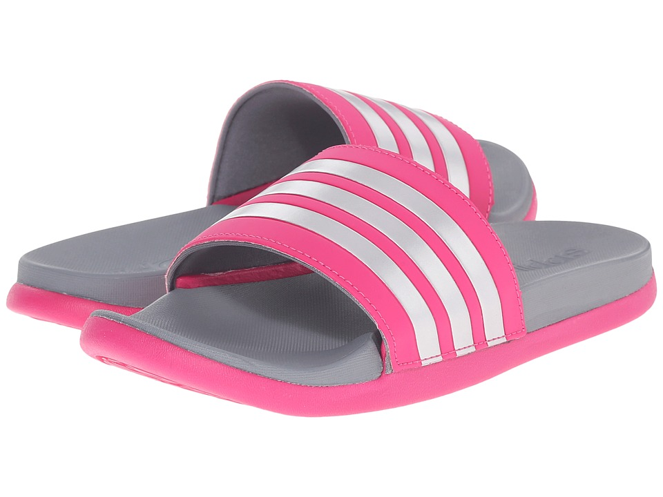 adidas Kids Adilette CF Ultra (Toddler/Little Kid/Big Kid) (Equipment Pink/Matte Silver/Vista Grey) Girls Shoes