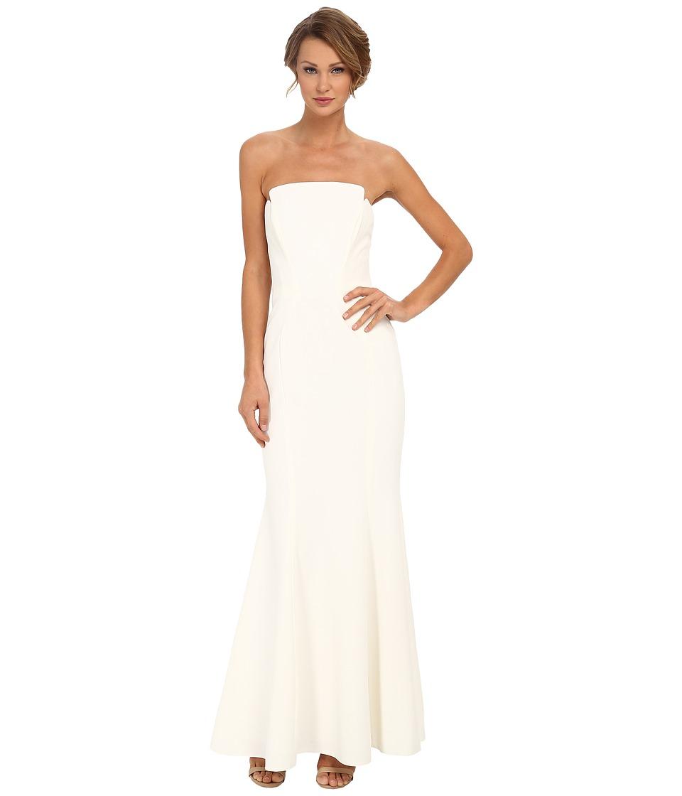 JILL JILL STUART Strapless Crepe Fitted Column Gown (Off-White) Women