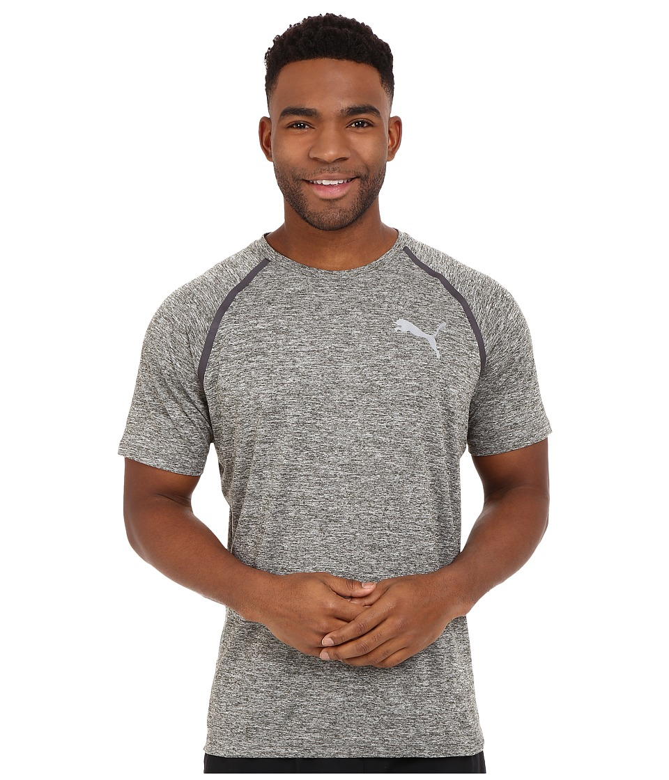 PUMA - Bonded Tech Short Sleeve Tee (Forest Night Heather) Men