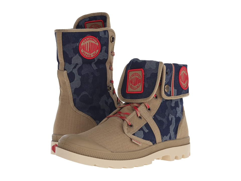 Palladium - Pallabrouse BGY EXTX (Dark Khaki/Red/Mojave Desert) Lace-up Boots